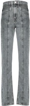 Etoile Isabel Marant Raised Seam Tapered Jeans