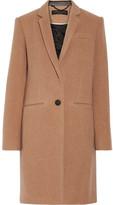 Rag & Bone Emmet Crombie Leather-trimmed Wool-blend Coat - Sand