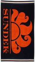 Sundek Logo Printed Terrycloth Beach Towel