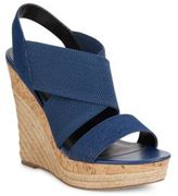 Charles by Charles David Allison Denim & Cork Espadrille Platform Wedge Sandals