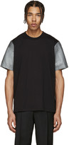 Paul Smith Black and Silver Panelled T-shirt