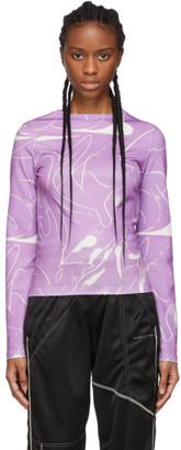 Danielle Cathari SSENSE Exclusive Purple Emblazoned Long Sleeve T-Shirt
