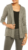 Eileen Fisher Hooded Open Front Cardigan