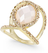 INC International Concepts Gold-Tone Large Stone and Pavandeacute; Statement Ring, Created for Macy's