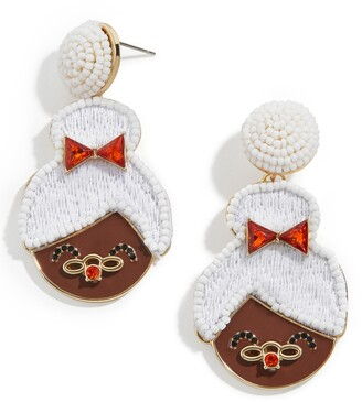 BaubleBar Mrs. Claus Drop Earrings
