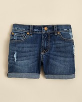 7 For All Mankind Girls' Distressed Cuff Shorts - Sizes 7-14
