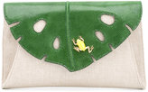 Charlotte Olympia Jungle clutch - women - Linen/Flax/Leather - One Size