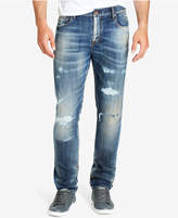 William Rast Men's Slim-Straight Fit Stretch Destroyed Jeans