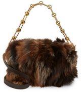 Michael Kors Fox Fur and Leather Shoulder Bag