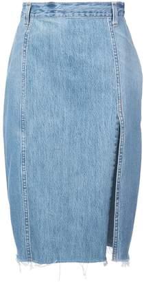 RE/DONE pencil denim skirt