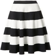 Akris Punto striped full skirt