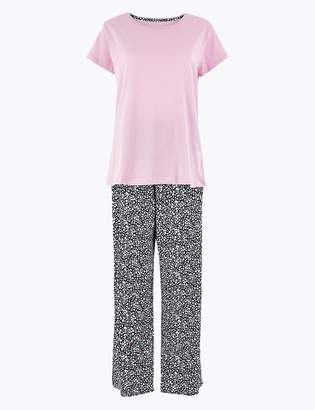 Marks and Spencer Pure Cotton Floral Print Pyjama Set