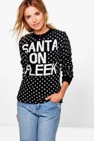 Boohoo Emma Santa on Fleek Christmas Jumper