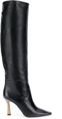 Wandler Contrast Heel Long Boots