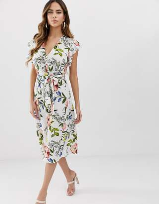 AX Paris floral midi dress-Cream