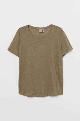 H&M H&M+ Linen T-shirt