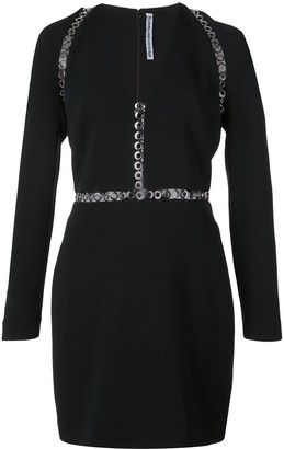 Alexander Wang fitted eyelets dress