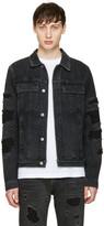 Helmut Lang Black Mr 87 Destroy Denim Jacket