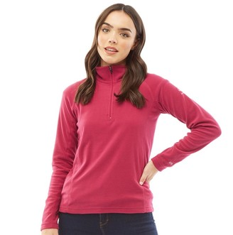 Trespass Womens Alexandra 1/2 Zip Micro Fleece Cerise