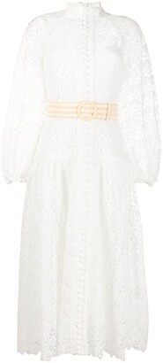 Zimmermann Sheer Lace Shirt Dress