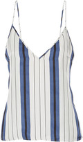 Protagonist Striped silk-twill camisole