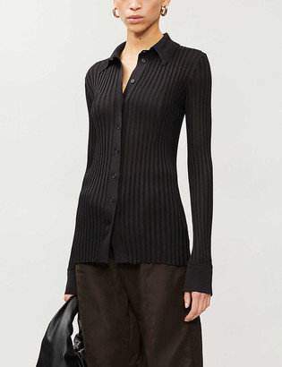 Bottega Veneta Ribbed V-neck wool jumper