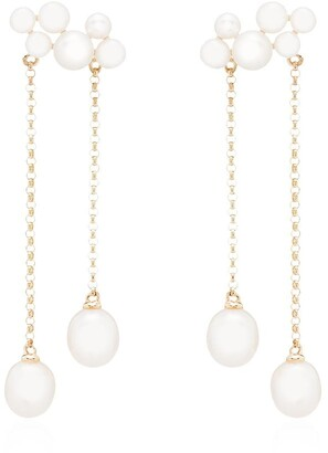 Anissa Kermiche 14kt gold Wuthering Heights pearl drop earrings