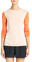 Diane von Furstenberg Alex Colorblock Sweater In Candlelight/heath Grey/nectar