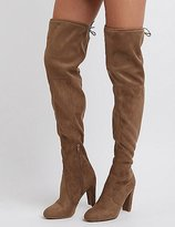 Charlotte Russe Tie-Back Over-The-Knee Boots
