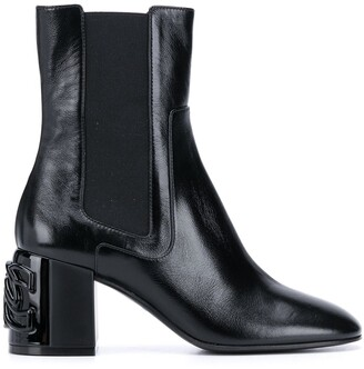 Casadei C-Chain block ankle boots