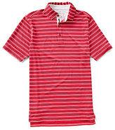 Bobby Jones XH2O Tavern Stripe Stretch Jersey Short-Sleeve Polo Shirt