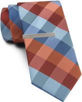 Van Heusen Bold Buffalo Tie and Tie Bar Set - Slim