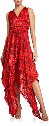 Alice + Olivia Sammi Double-Layered Handkerchief Dress