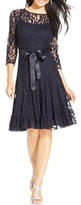 MSK Illusion Floral Lace 3/4 Sleeve Dress.