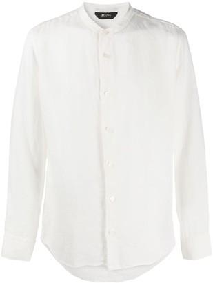 Ermenegildo Zegna Long Sleeve Mandarin Collar Shirt