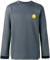 Fendi embroidered sweatshirt - men - Cotton/Polyamide/Polyester/Wool - 46