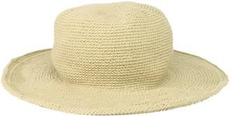 San Diego Hat Company Women's Cotton Crochet Floppy Hat with 3 Inch Brim