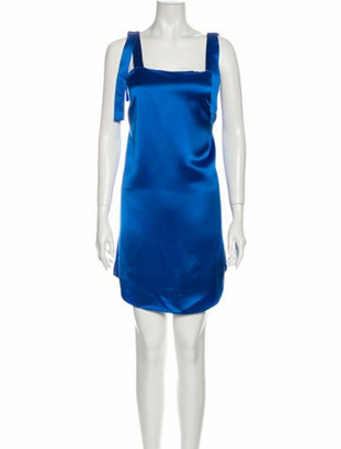Mestiza New York Square Neckline Mini Dress w/ Tags Blue
