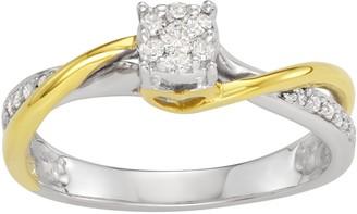 10k Gold 1/6 Carat T.W. Diamond Infinity Promise Ring
