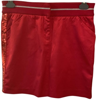 Moschino Cheap & Chic Moschino Cheap And Chic Red Cotton Skirt for Women