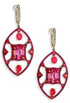 Ivy Diamond, Ruby & Two-Tone Spinel Drop Earrings