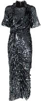 Preen by Thornton Bregazzi Sophia sequin-embellished ruched midi-dress
