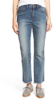 Madewell High Rise Ankle Bootcut Jeans (Essex Wash)