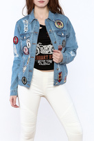 RD Style Denim Patch Jacket
