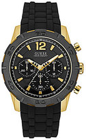 GUESS Chronograph Silicone-Strap Watch