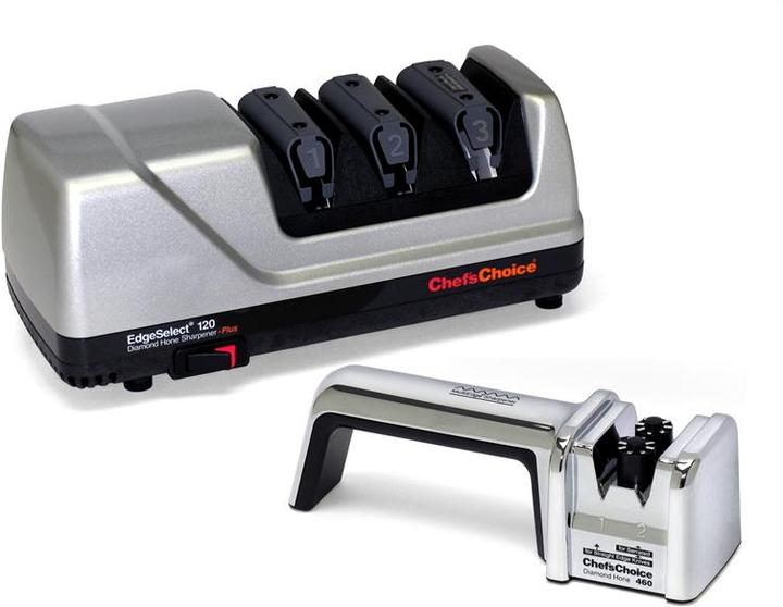 Chef's Choice Diamond Hone Select Edge Professional Electric Knife Sharpener With Bonus Manual Sharpener
