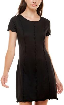 Ultra Flirt Juniors' Seam-Detail Bodycon Dress
