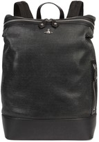 Vivienne Westwood Wimbledon Black Leather Backpack