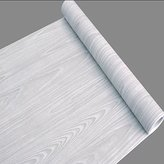 SimpleLife4U Light Gray Wood Grain Contact Paper Self Adhesive Shelf Liner Table Door Sticker 17.7 Inch by 9.8 Feet