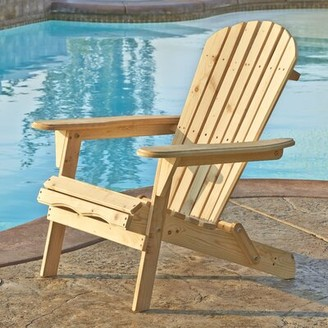 Adirondack Whetsel Solid Wood Folding Chair Highland Dunes Color: Natural